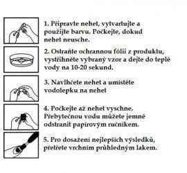 Vodolepky na zdobení nehtů č. 199