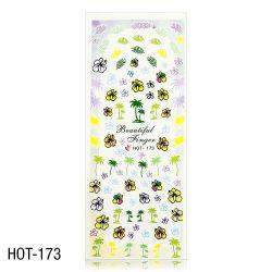 Vodolepky na zdobení nehtů - velký list 12,7 x 5,5cm HOT-173