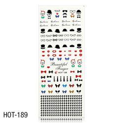 Vodolepky na zdobení nehtů - velký list 12,7 x 5,5cm HOT-189