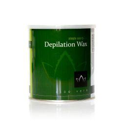 Depilační vosk z Řecka SIMPLE USE aloe vera - plechovka 800ml (A)