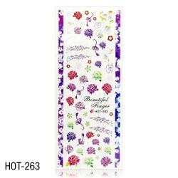 Vodolepky na zdobení nehtů - velký list 12,7 x 5,5cm HOT-263