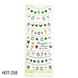 Vodolepky na zdobení nehtů - velký list 12,7 x 5,5cm HOT-258