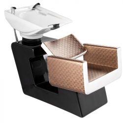 Kadeřnický mycí box GABBIANO TURIN hnědo-béžový (AS)