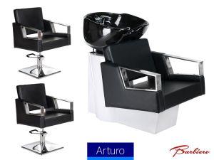 Kadeřnický set 2+1 ARTURO černý (AS)