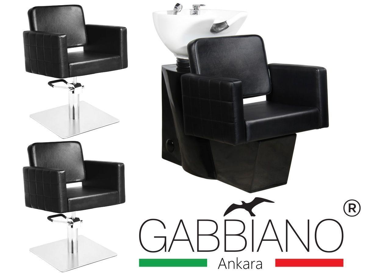 Kadeřnický set 2+1 GABBIANO ANKARA černý