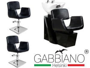 Kadeřnický set 2+1 GABBIANO HELSINKI černý (AS)