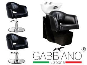 Kadeřnický set 2+1 GABBIANO LIZBONA černý (AS)