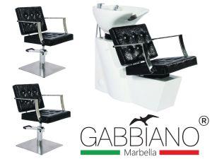 Kadeřnický set 2+1 GABBIANO MARBELLA černý (AS)