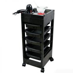 Kadeřnický vozík 048A černý (AS)