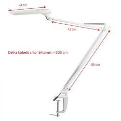 Stolní lampa LED MOONLIGHT SENSOR bílá