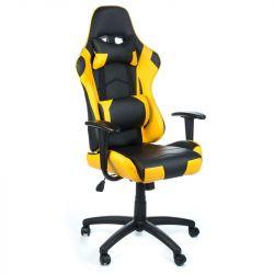 Herní židle RACER CorpoComfort BX-3700 žlutá (BS)