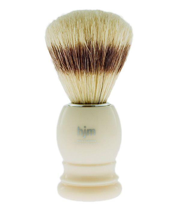 Štětka na holení z přírodních štětin MUEHLE - HJM bílá