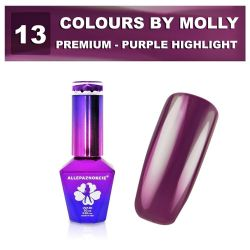13 Gel lak Colours by Molly PREMIUM 10ml -PURPLE HIGHLIGHT- (A)