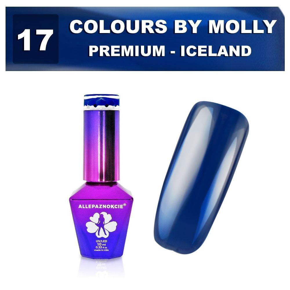 Gel lak Colours by Molly PREMIUM 10ml -ICELAND-