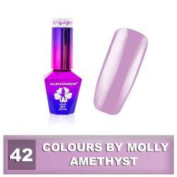 42 Gel lak Colours by Molly 10ml - Amethyst (A)