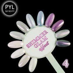 Pyl na zdobení nehtů - Efekt Shimmer Glam 04