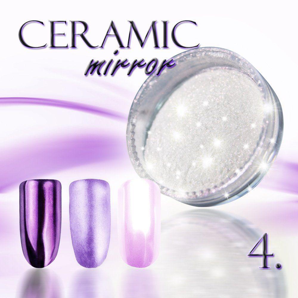 Zdobící prášek na nehty CERAMIC MIRROR - 4. Purple