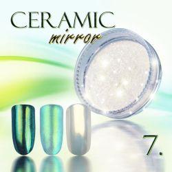 Zdobící prášek na nehty CERAMIC MIRROR - 7. Gold Green (A)