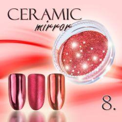 Zdobící prášek na nehty CERAMIC MIRROR - 8. Cooper Red (A)