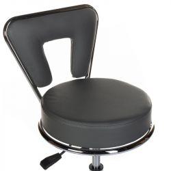 Kosmetická stolička s opěrkou BG-823 šedá
