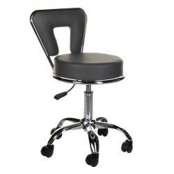 Kosmetická stolička s opěrkou BG-823 šedá (BS)