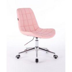 Židle na kolečkách HR590K růžová (V)