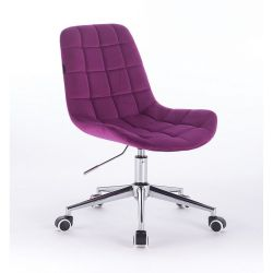 Židle na kolečkách HR590K velurová fuchsiová (V)