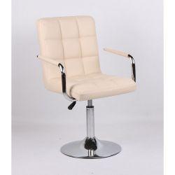 Židle na kulaté podstavě HC-1015NP krémová (V)