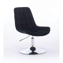 Židle na kulaté podstavě HR590N velur - černá (V)