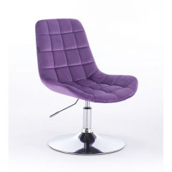 Židle na kulaté podstavě HR590N velur - fialová (V)