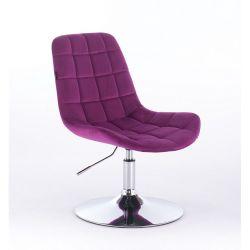 Židle na kulaté podstavě HR590N velur - fuchsiová (V)