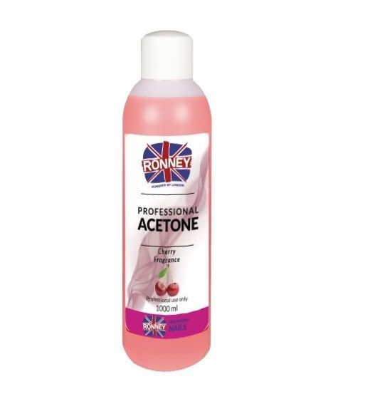 Kosmetický aceton, odstraňovač gelu 500ml - višeň