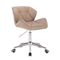 Kosmetická židle HC-111K karamel na kolečkách (V)