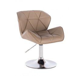 Kosmetická židle HC-111N na kulaté podstavě, karamel (V)
