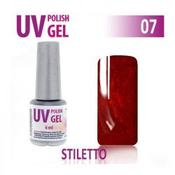 07.UV gel lak na nehty hybridní STILETTO - bordó 6 ml (A)