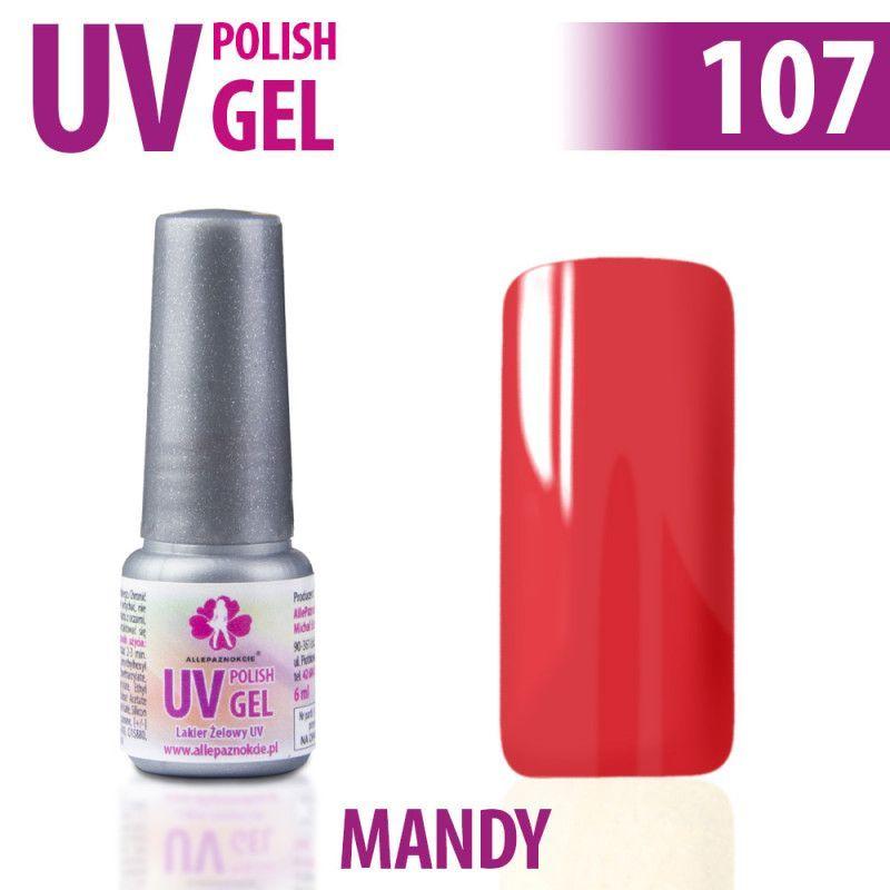 107.UV gel lak na nehty hybridní MANDY 6 ml