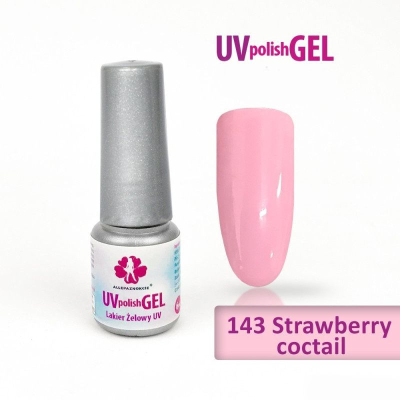 143.UV gel lak Strawberry coctail 6 ml