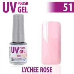 51.UV gel lak na nehty hybridní LYCHEE ROSE 6 ml (A)
