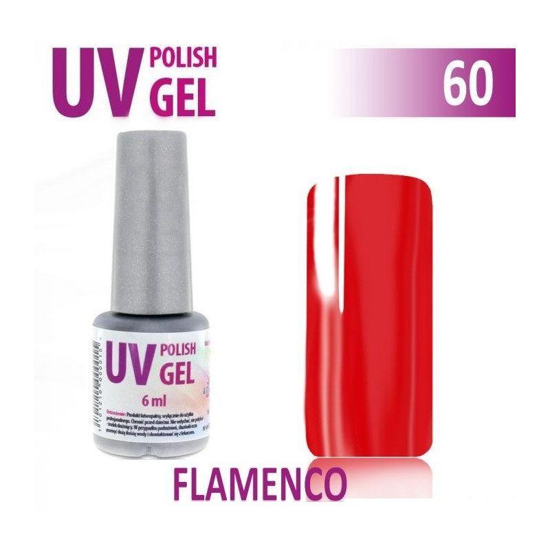 60.UV gel lak na nehty hybridní FLAMENGO 6 ml