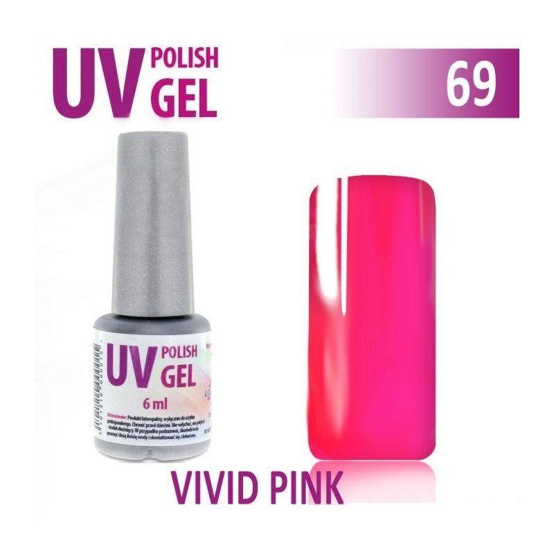 69.UV gel lak na nehty hybridní VIVID PINK 6 ml