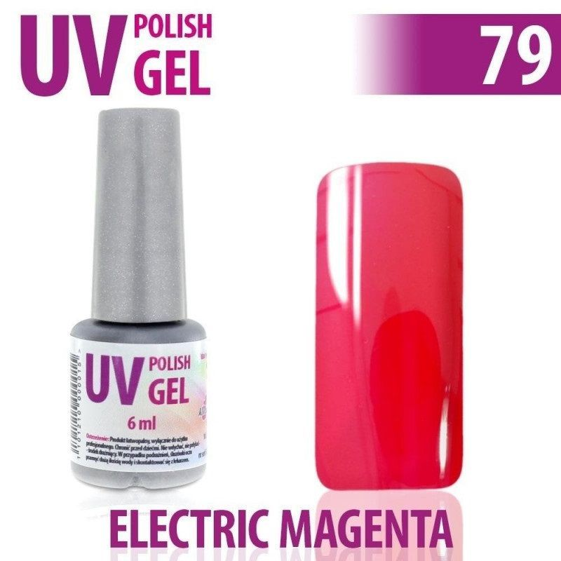 79.UV gel lak na nehty hybridní ELECTRIC MAGENTA 6 ml