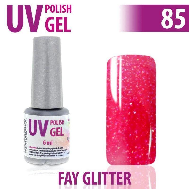 85.UV gel lak na nehty hybridní FAY GLITTER 6 ml