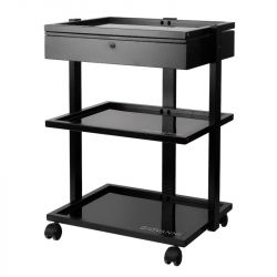 Tetovací odkládací stolek 1040A  černý (AS)