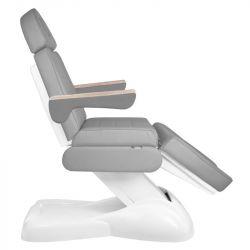 Elektrické kosmetické křeslo ARMCHAIR LUX 273B - 3 motory, šedé