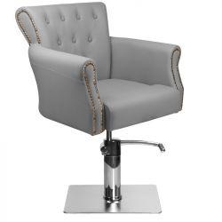 Kadeřnické křeslo BER 8541 šedé