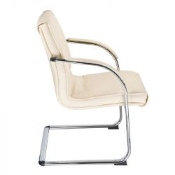 Konferenční židle, židle do čekárny BX-3346 krémová