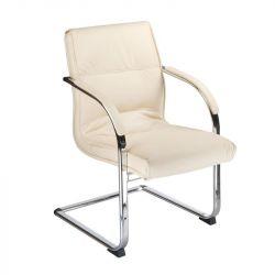 Konferenční židle / židle do čekárny BX-3346 krémová (BS)