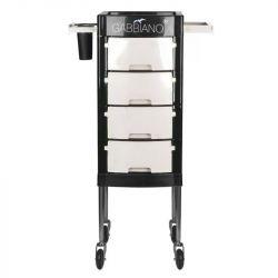 GABBIANO Kadeřnický úložný stolek FT65-1 černo/bílý