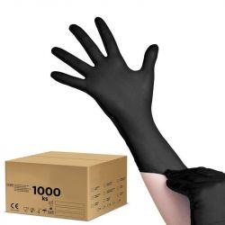Jednorázové nitrilové rukavice černé - L - karton 10ks (VP)