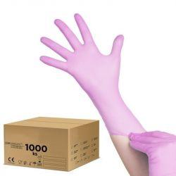 Jednorázové nitrilové rukavice růžové - M - karton 10ks (VP)